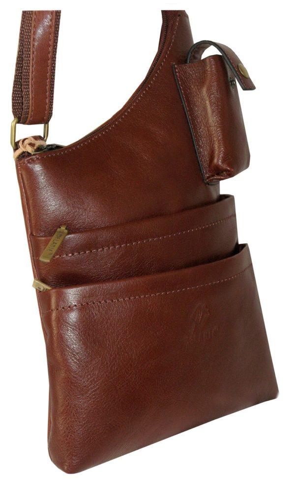 sac asymétrique en cuir