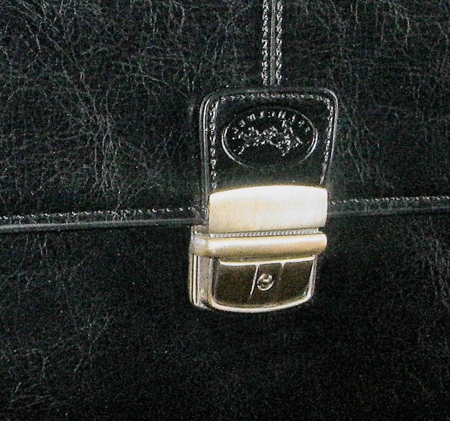 Cartable en cuir 2 soufflets