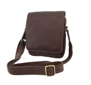 pochette en cuir homme katana marron