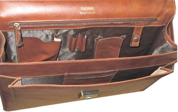 Cartable en cuir Katana 1 soufflet 63060/01