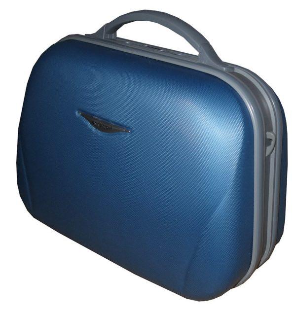 Vanity rigide bleu à code 87004