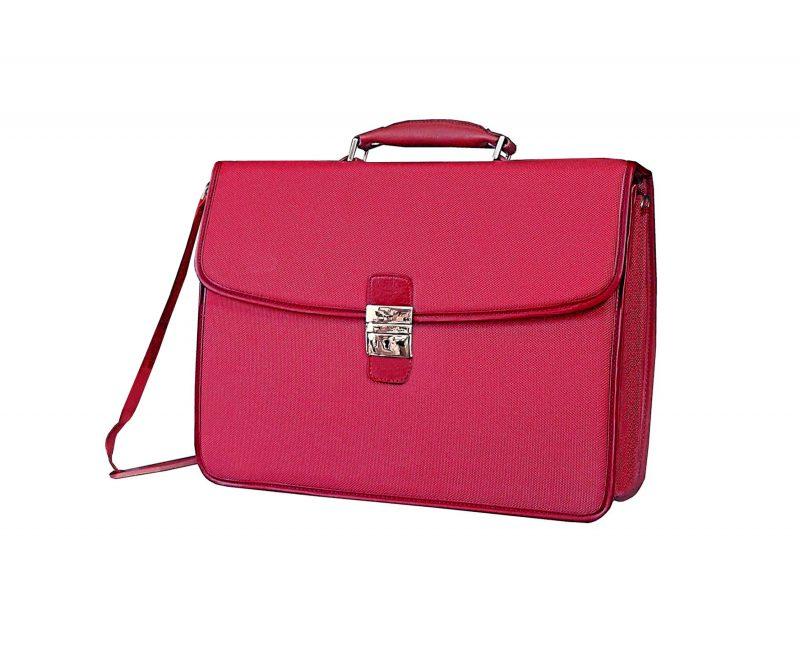 cartable-cuir-et-toile-Katana-16841-Rouge-pas cher