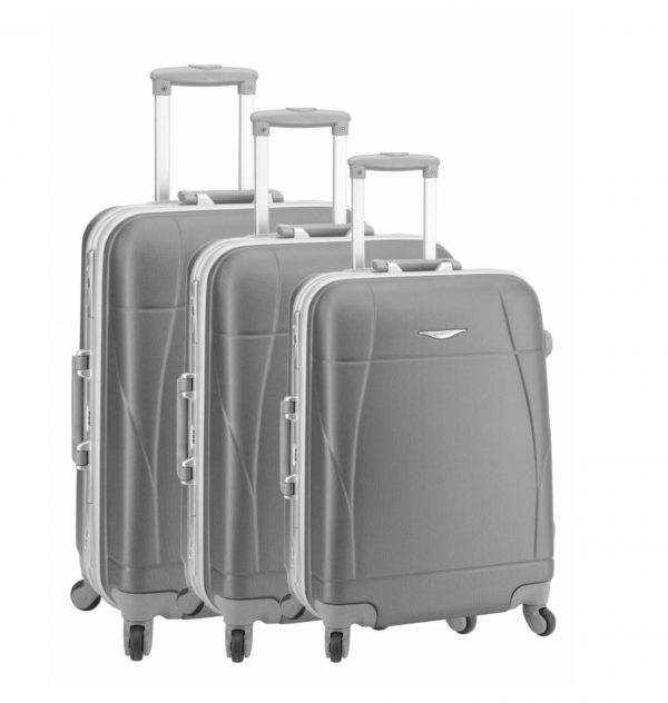 ensemble de 3 valises rigides 4 roues gris