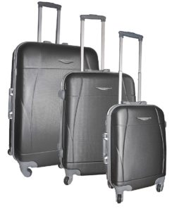 Set de 3 valises rigides à roulettes