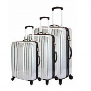 ensemble de 3 valises rigides snowball gris 31603A