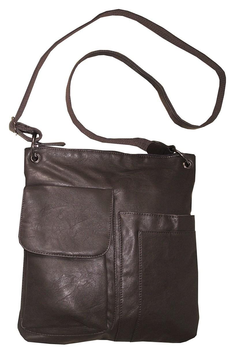 sacoche bandoulière mixte à poches
