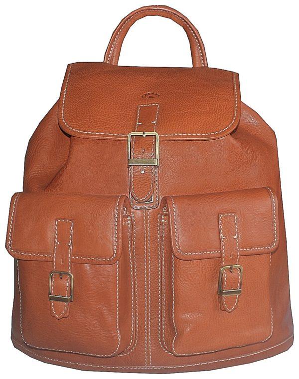 sac à dos en cuir femme camel
