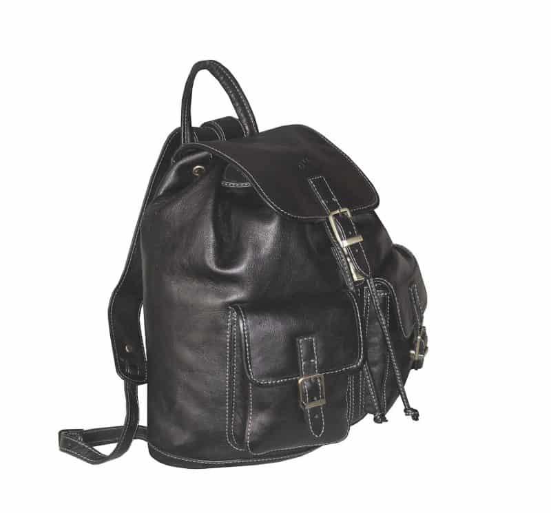sac à dos en cuir noir katana