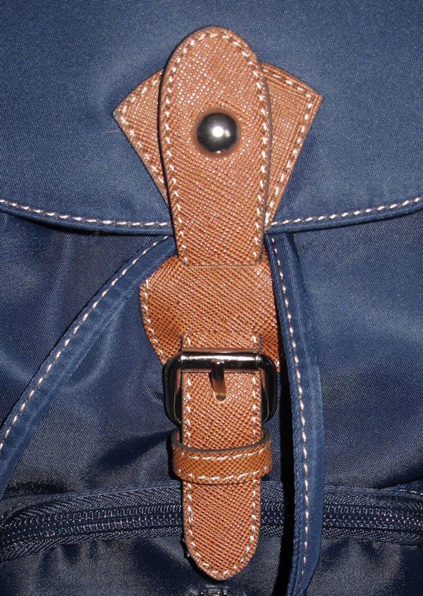 sac à dos femme cuir et toile