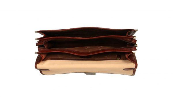 cartable en cuir 3 soufflets Katana pas cher 31039V