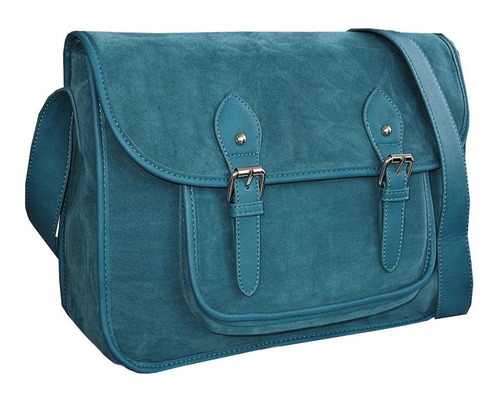 sac bandoulière femme bleu canard
