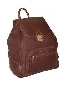 sac à dos en cuir pas cher Katana marron
