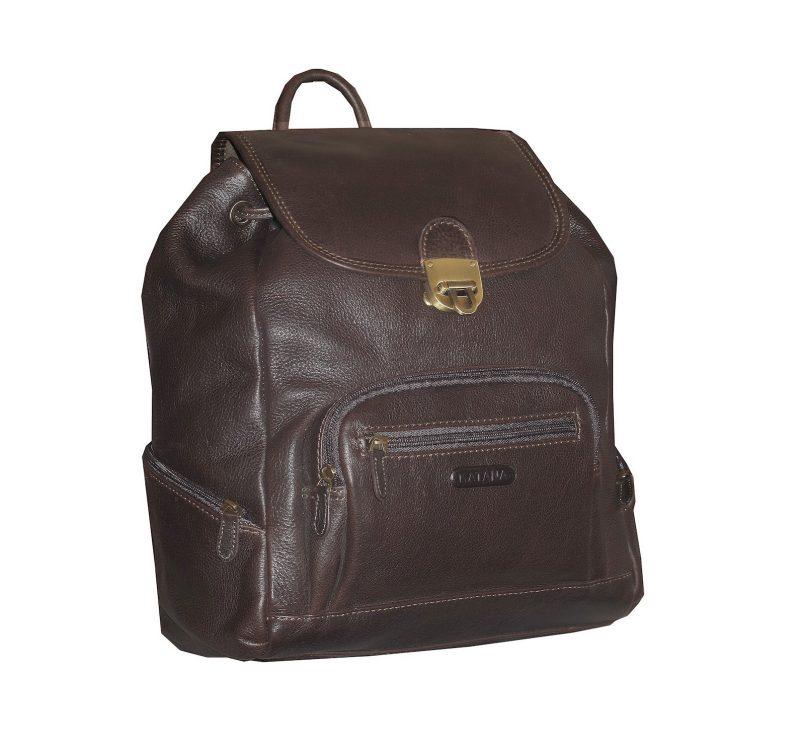 sac à dos cuir pas cher katana marron choco