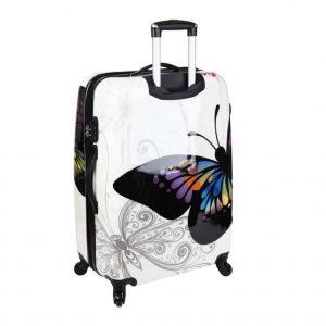 """valise rigide 76 cm à 4 roues """"papillon"""""""
