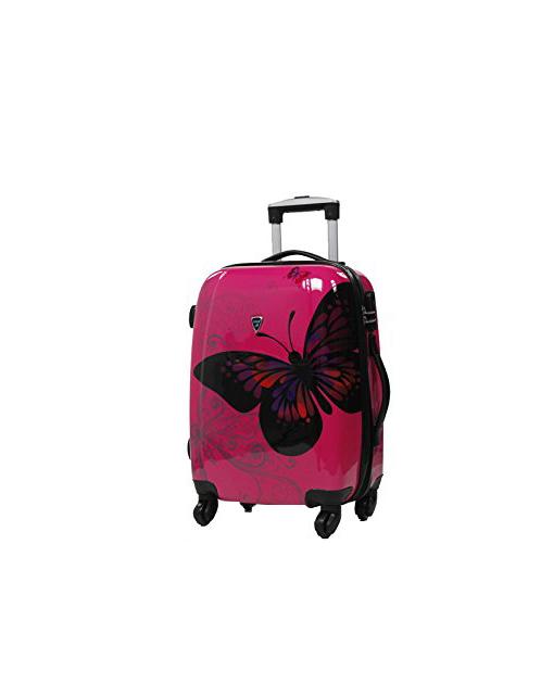 valise cabine rose pour enfant papillon pas cher madisson