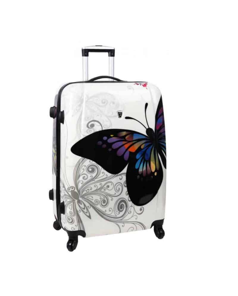 Valise 76 cm 4 roues madisson pas cher papillon