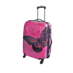 """Valise rigide 65 cm """"Papillon"""""""