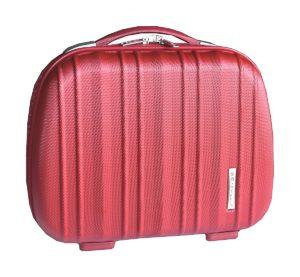 Vanity case rigide rouge en polycarbonate