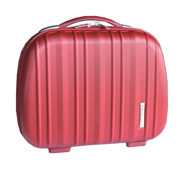 Vanity case rigide rouge en polycarbonate