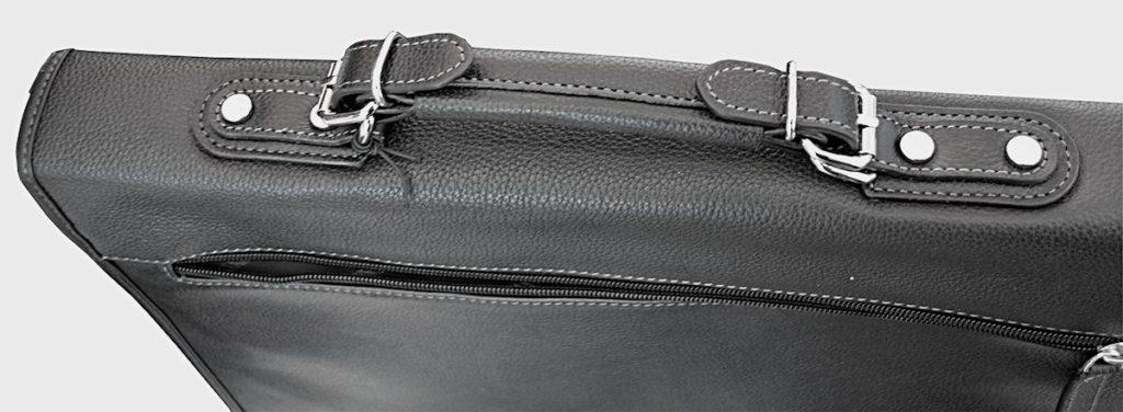 cartable en cuir 3 soufflets Katana Noir 69232