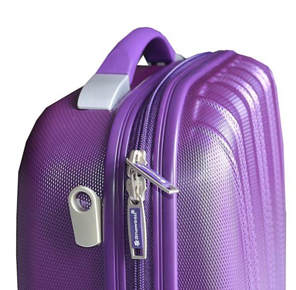 Vanity case rigide violet en polycarbonate