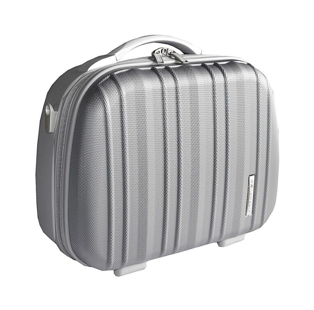 Vanity case rigide gris en polycarbonate pas cher