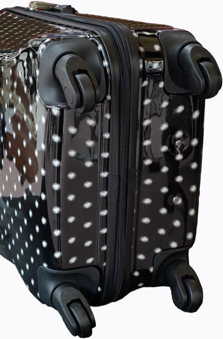 Valise rigide 70 cm en polycarbonate Noir