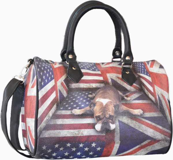 Sac bowling chien et drapeau anglais Us