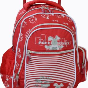 Sac à dos trolley scolaire Rouge Nounours