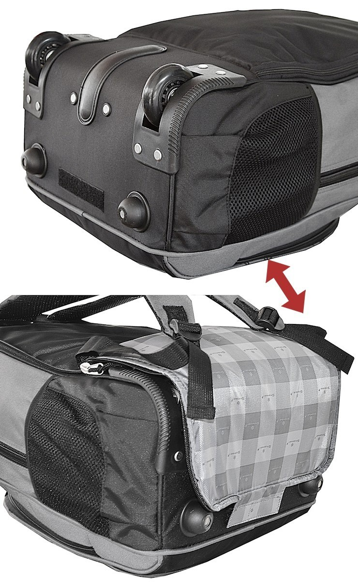 sac à dos à roulettes gris pas cher