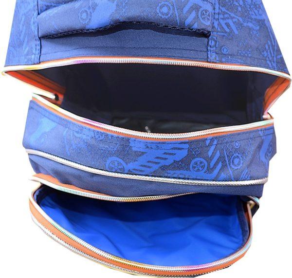 Sac à dos scolaire à roulettes bleu enfant