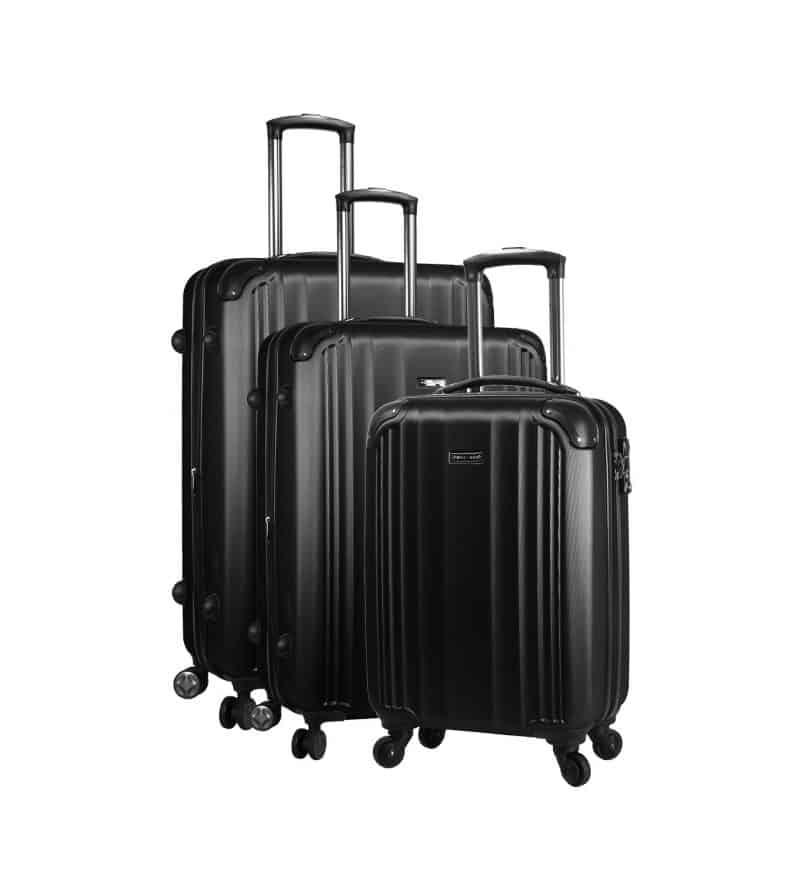 ensemble de 3 valises rigides noir