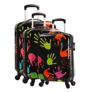 "Lot de 3 valises rigides ""Mains"""