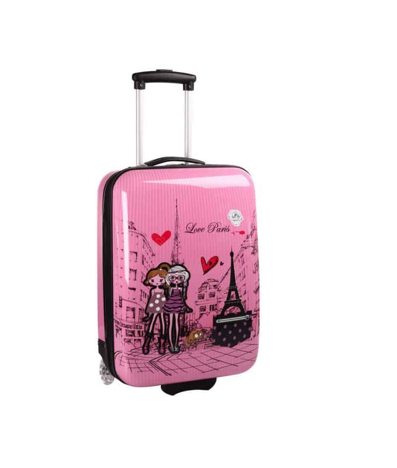 Valise cabine rose pour fille Madisson