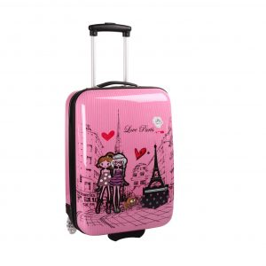 "Valise cabine rose Enfant ""Love Paris"""