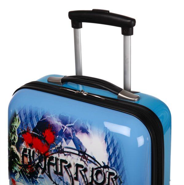 Valise cabine 2 roues bleue pour enfant