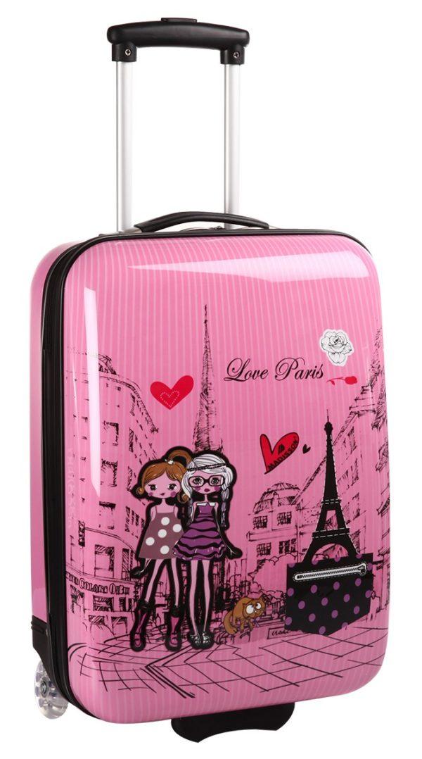 Valise cabine rose pour enfant
