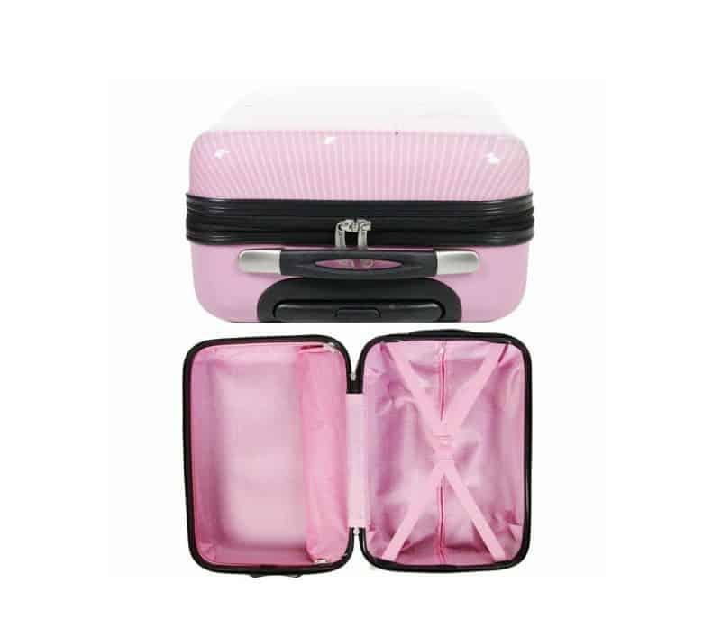 valise cabine rose pour fille pas cher madisson F55018
