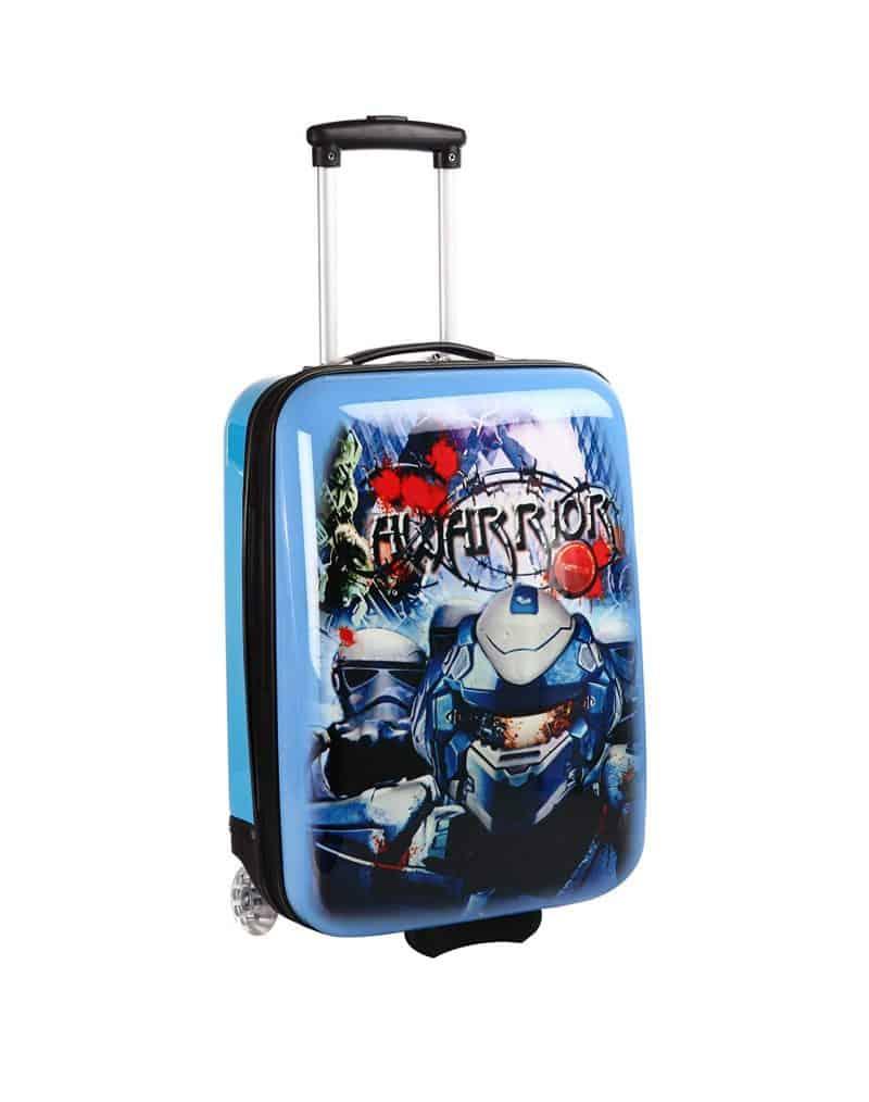 Valise enfant cabine pas cher bleu robot