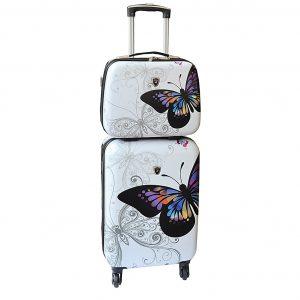 "Valise Cabine avec Vanity ""Papillon"""
