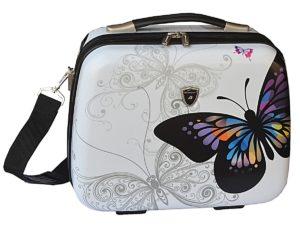 Vanity case motif papillon blanc