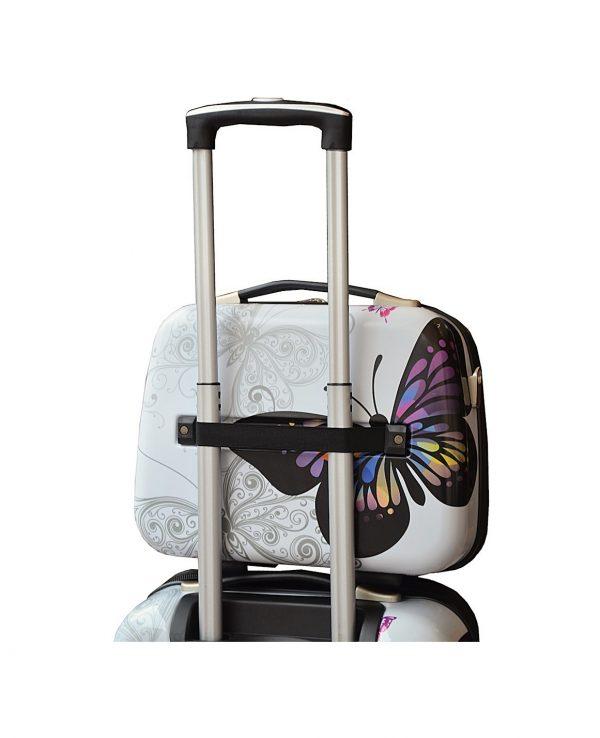 valise cabine vanity case madisson pas cher papillon