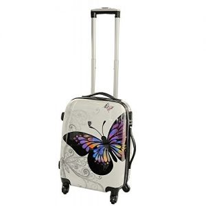 Valise cabine enfant 4 roues Papillon – Madisson