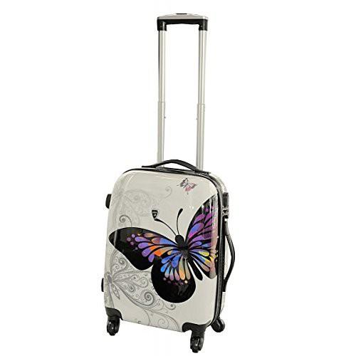 Valise cabine enfant 4 roues Papillon - Madisson