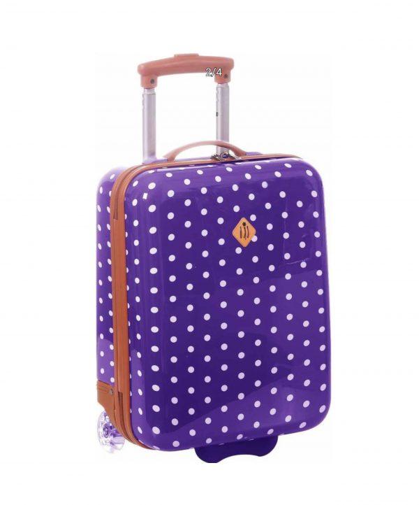valise enfant cabine pois violet madisson