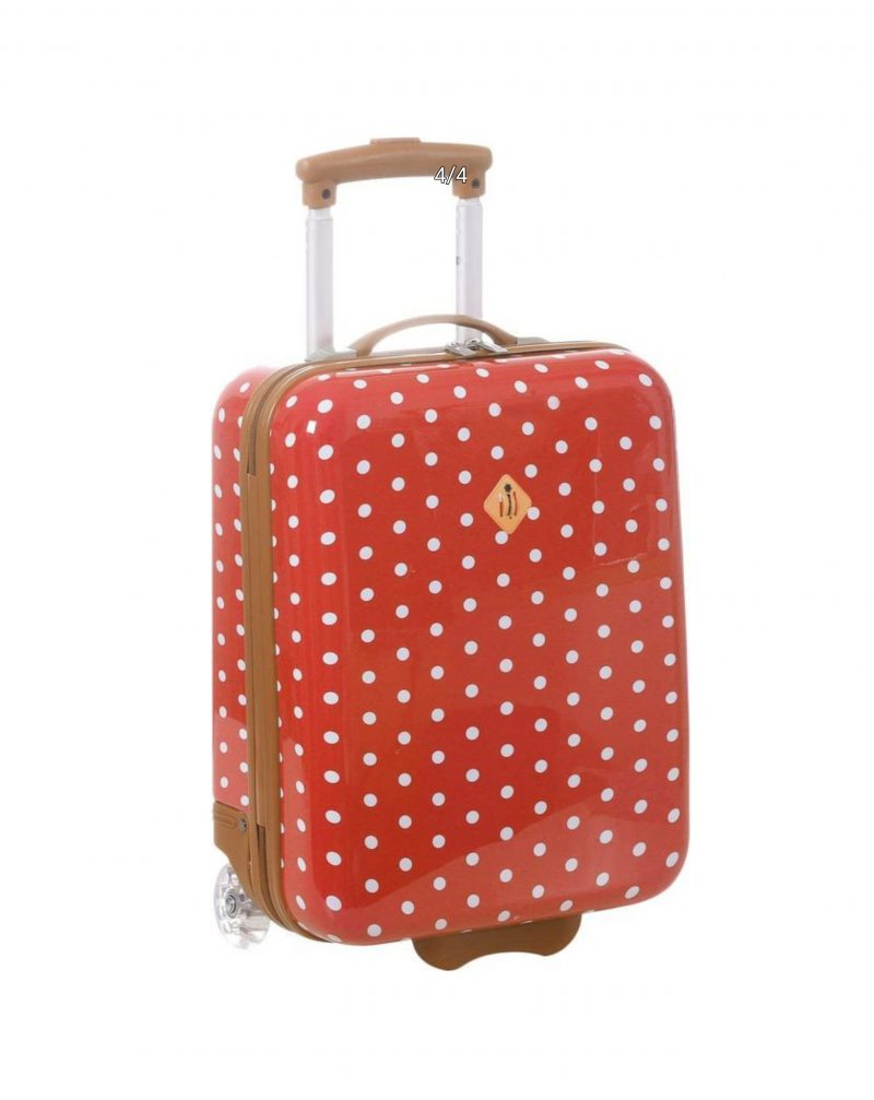 valise enfant cabine à pois rouge madisson