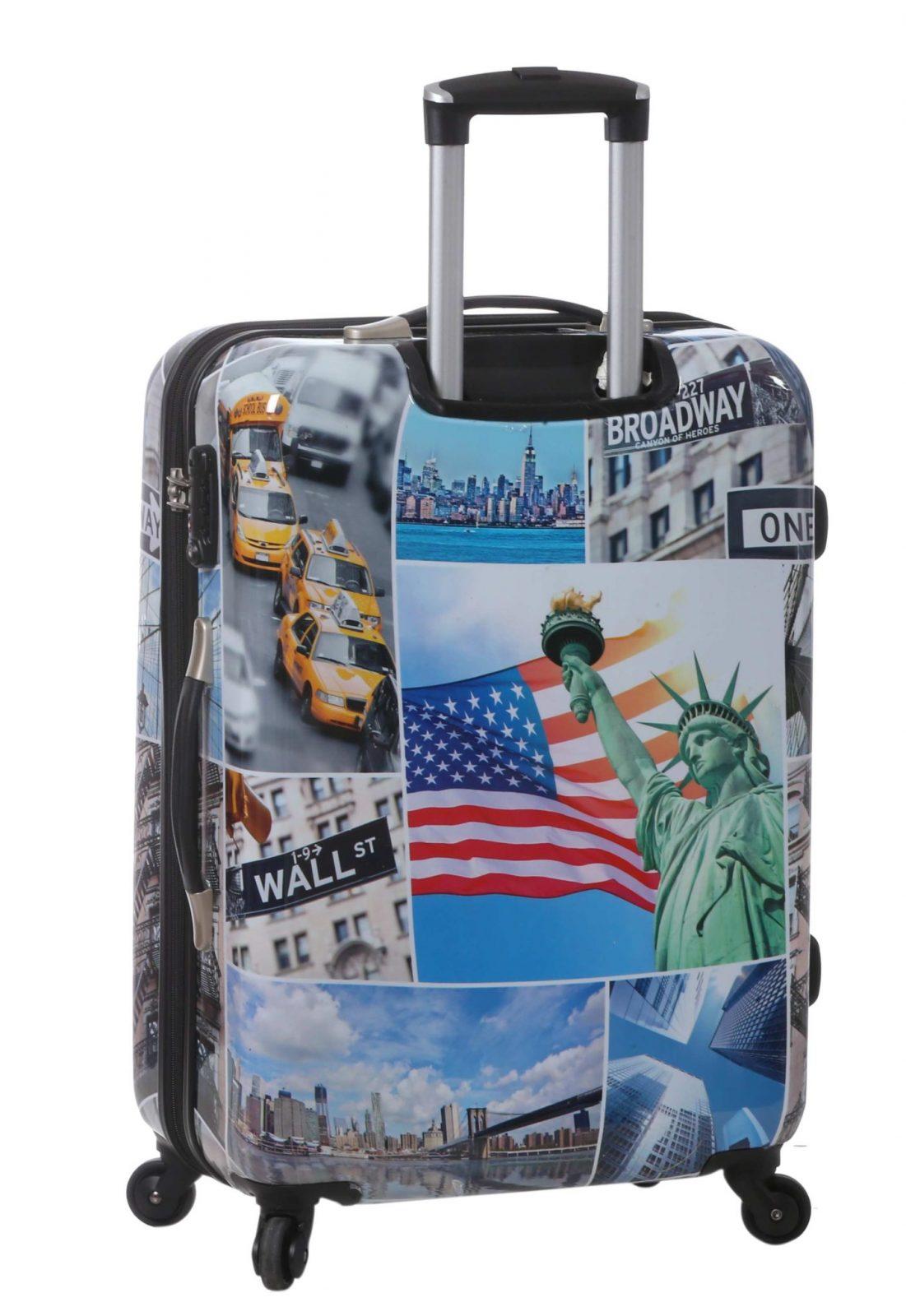 Valise rigide 70 cm à 4 roues New York pas cher