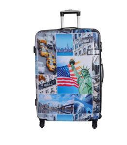valise 76cm 4 roues pas cher Snowball BLEU BROADWAY