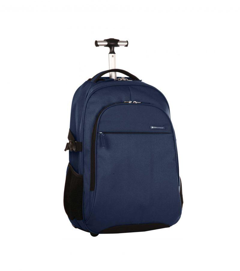 sac à dos pilot case pc à roulettes bleu snwoball pas cher