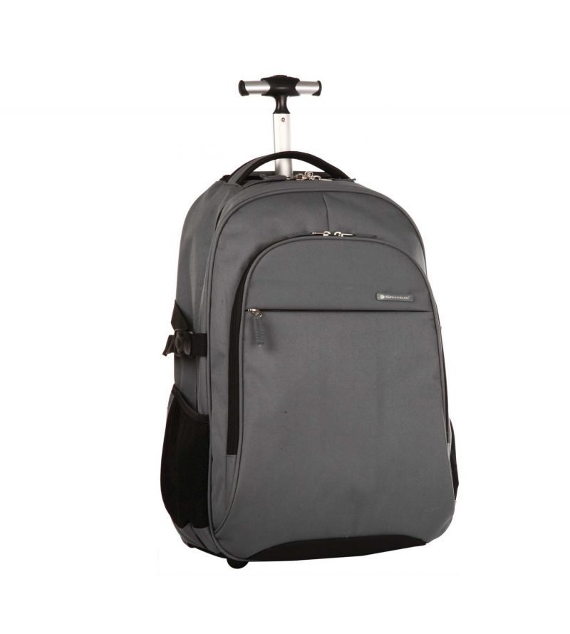 sac à dos pc à roulettes pas cher gris snowball